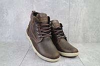Мужские зимние ботинки на меху в стиле Timberland, шерсть, натуральная кожа, коричневые *** 40 (26,5 см)
