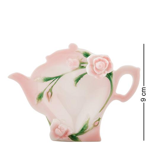 """Подставка для чайных пакетиков """"Роза"""" 12x9x3 см., фарфор Pavone, Италия"""