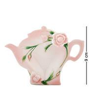 """Подставка для чайных пакетиков """"Роза"""" 12x9x3 см., фарфор Pavone, Италия, фото 1"""
