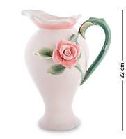 """Кувшин """"Роза"""" 17x14x22 см., фарфор Pavone, Италия"""