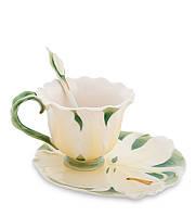 "Чашка с блюдцем ""Лилия"" 160 мл., 2 пр., фарфор Pavone, Италия"