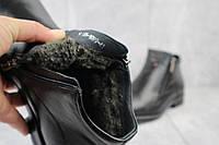 Мужские зимние ботинки на меху в стиле Vivaro, шерсть, натуральная кожа, черные *** 41 (28 см)