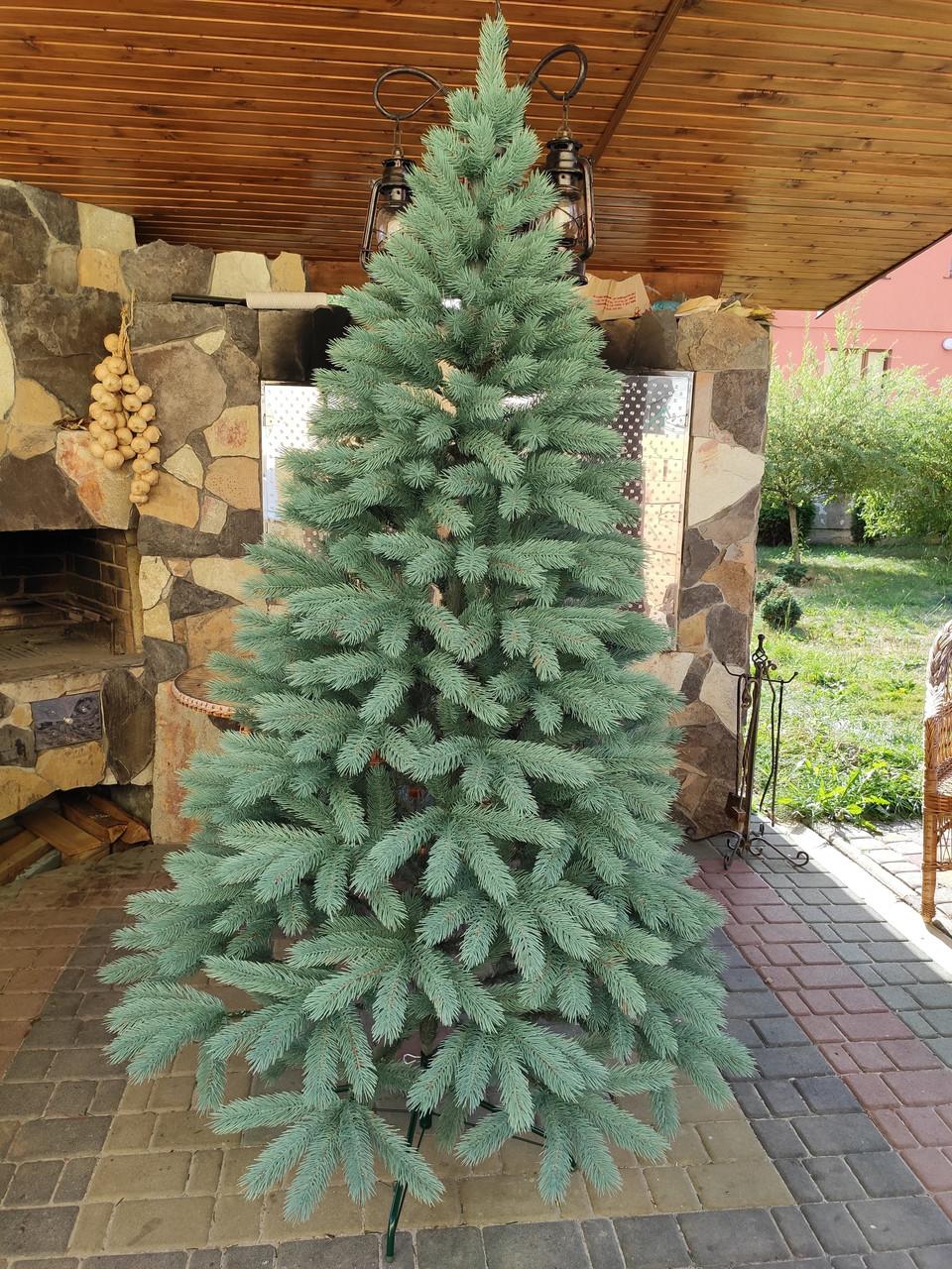 Литая новогодняя елка Буковельская  2.10м. Зеленая