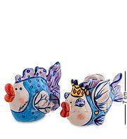 """Набор для специй соль-перец """"Влюбленные рыбки"""" 12x6x7 см., Blue Sky, Италия, фото 1"""