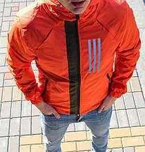 Куртка ADIDAS-оранж {S}