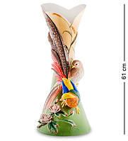 "Статуэтка-ваза ""Золотой фазан"" 61 см., фарфор Pavone, Италия"