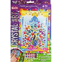 Набор для творчества DankoToys DT CArt-01-06 Мозаика Crystal Art Kids Павлин