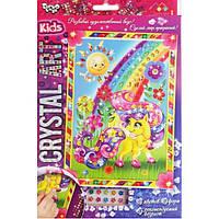 Набор для творчества DankoToys DT CArt-01-07 Мозаика Crystal Art Kids Пони на полянке