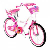 Велосипед двухколесный SW-17014-20 розовый с корзинкой