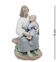 "Статуэтка ""Наставления Христа"" 7,5x7,5x14 см., фарфор Pavone, Италия"