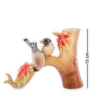 """Статуэтка-ваза """"Птицы на клёне"""" 13 см., фарфор Pavone, Италия"""