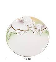 """Блюдо """"Слоны"""" 18 см., фарфор Pavone, Италия"""