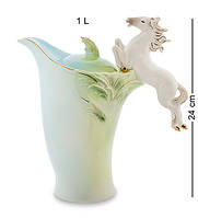 """Заварочный чайник """"Лошадь"""" 1 л., фарфор Pavone, Италия"""