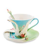 """Чайный набор """"Лебеди"""" 150 мл., 2 пр., фарфор Pavone, Италия"""
