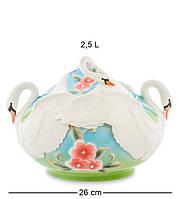 """Супница """"Лебеди"""" 22 см., фарфор Pavone, Италия"""