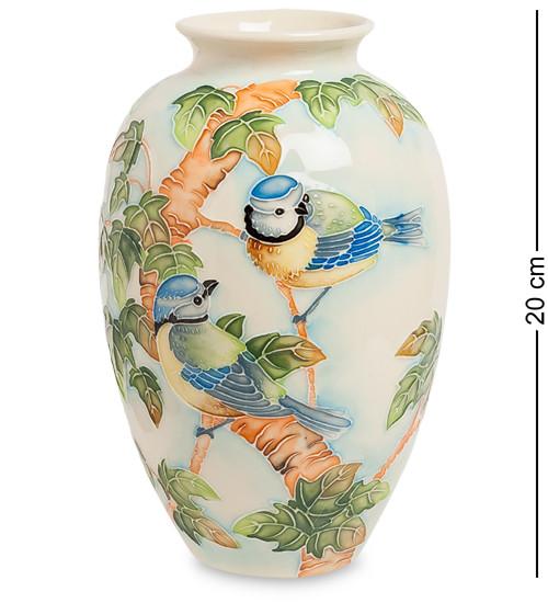 "Ваза ""Синяя птица"" 20 см., фарфор Pavone, Италия"