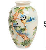 "Ваза ""Синяя птица"" 20 см., фарфор Pavone, Италия, фото 1"