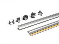 Угол внутренний 90 градусов CL 98656 Серебрянный 351116-003 дополнение к кухоной отбортовке