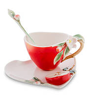 "Чашка с блюдцем ""Яблоко"" 120 мл., 2 пр., фарфор Pavone, Италия"