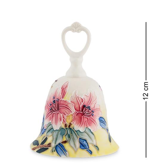 """Колокольчик """"Цветы"""" 8,5x8,5x12 см., фарфор Pavone, Италия"""