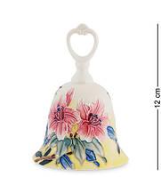 """Колокольчик """"Цветы"""" 8,5x8,5x12 см., фарфор Pavone, Италия, фото 1"""