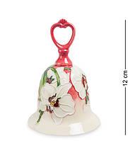 """Колокольчик """"Орхидея"""" 8,5x8,5x12 см., фарфор Pavone, Италия"""