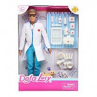 """Кукла """"Кен""""Defa Lucy""""Ветеринар"""" 8347 (36шт/2) с пиотомцами,набором для ухода,в кор.28см"""