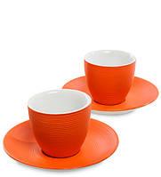 "Кофейный набор на 2 перс ""Колумбия для двоих"" оранж 100 мл., фарфор Love Drinks"