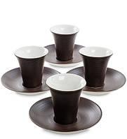 "Кофейный сервиз на 4 перс. ""Колумбия для двоих"" коричн 100 мл., фарфор Love Drinks , фото 1"