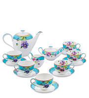 Чайный сервиз из костяного фарфора на 6 персон ''Виола'' (Viola Pavone) JK-116