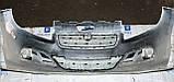 Декоративно-защитная сетка радиатора Fiat Linea фальшрадиаторная решетка, бампер, фото 3