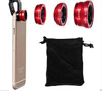 Набор 3 в 1 объективов, линз для мобильных телефонов