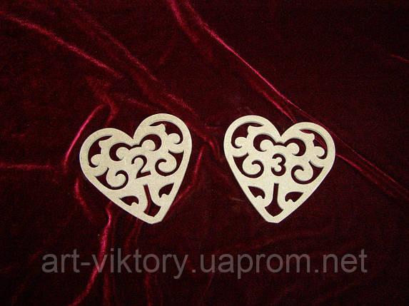 Сердечко - номерок (13 х 13 см), декор, фото 2