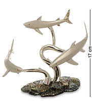 "Статуэтка ""Акулы"" подставка для бутылк 21x14x17 см., Гонконг"