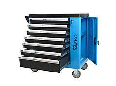 Шкаф для мастерской с оборудованием 243 ел. 7 выдвижных ящиков GEKO G10833