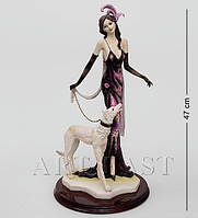 """Статуэтка """"Дама с собакой"""" 47 см., полистоун Great Art"""