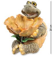 "Статуэтка-конфетница Черепаха ""Угощайтесь"" 15x19,5x20 см., полистоун Sealmark, США"