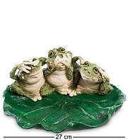 """Фигурка """"Три лягушки-мудреца"""" 27x22x11 см., полистоун Sealmark, США"""