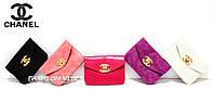 Женская сумочка Chanel черная, розовая, малиновая, фиолетовая, белая