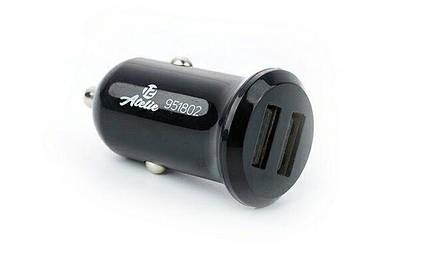 Зарядное устройство USB, 12 Atelie (951802) 12/24V - 5V 2,1A/черное/2 USB