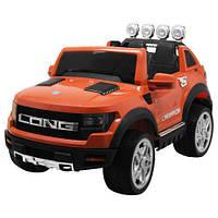 Електромобіль дитячий джип Bambi Ford M 3579EBLR 2 мотори помаранчевий CH1055