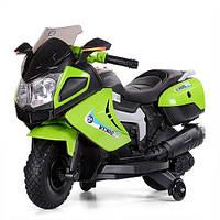 Детский электромотоцикл Bambi M 3625EL зеленый