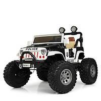 Електромобіль дитячий джип Bambi M 4077EBLR-2-1 4 мотори білий CH1144