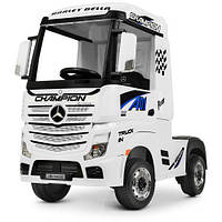 Электромобиль детский грузовик Bambi M 4208EBLR 2 мотора белый