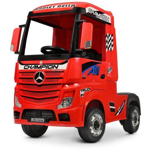 Электромобиль детский грузовик Bambi M 4208EBLR 2 мотора красный