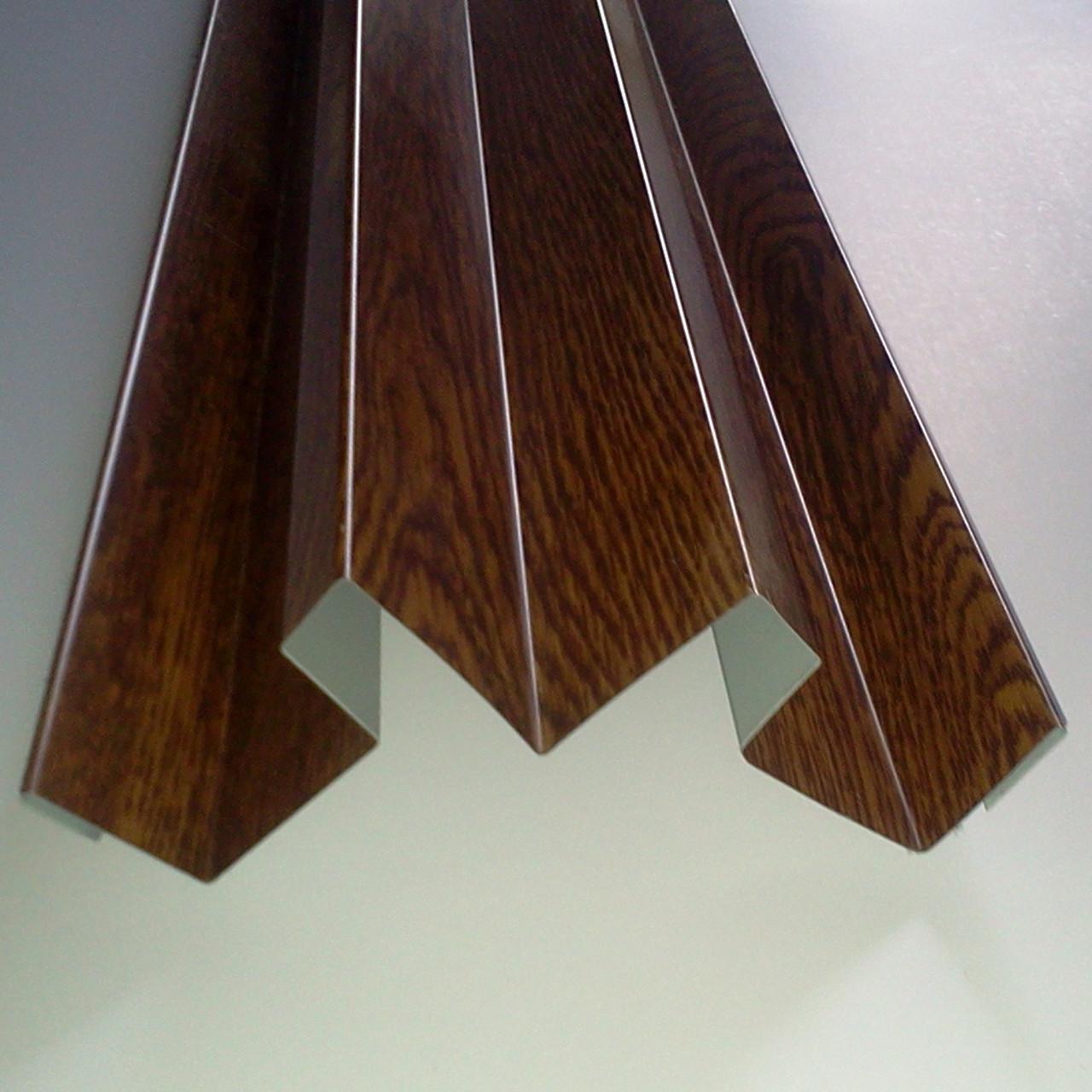 """Доборные элементы, комплектующие для металлосайдинга - """"Угол сложный внутренний"""""""