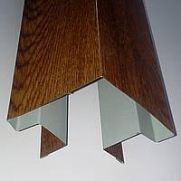 """Доборные элементы, комплектующие для металлосайдинга - """"Угол сложный внешний"""""""
