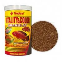 Tropical VITALITY and COLOR GRANULAT красящий гранулированный корм с высоким содержанием белка, 100мл