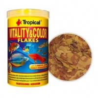 Tropical VITALITY and COLOR красящий хлопьевидный корм с высоким содержанием белка, 100мл