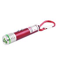 Фонарик брелок 118-2LED лазер карабин 3xLR44 фонарь
